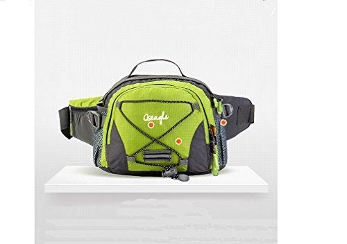 Outdoor peak NYLON Herren Damen Hüfttasche Gürteltasche Bauchtasche Tactical Taschen Bergsporttasche Männer und Frauen Fahrrad tragbaren Messenger Taille Bag Brusttasche Sport für Handy, Schlüssel, Ge grün