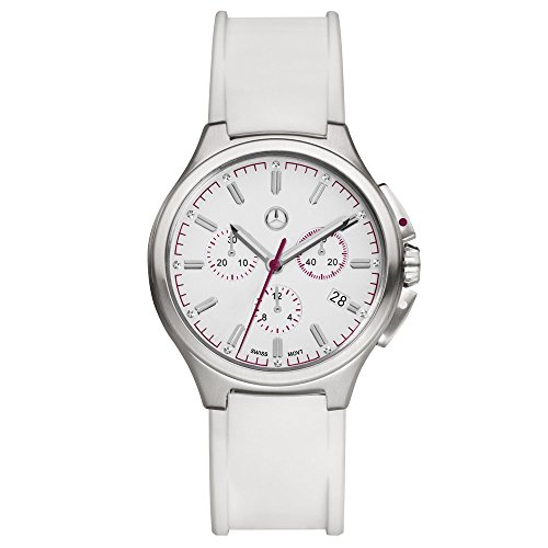 Mercedes-Benz ' original Mujer Reloj De Pulsera Cronógrafo Sport Fashion Color Blanco/Plum