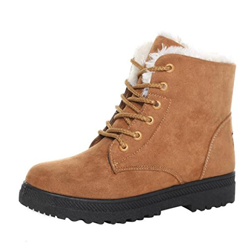 Stiefel Damen Clode® New Classic Frauen warme Schuhe Schneestiefel Fashion Winter Short Boots Braun