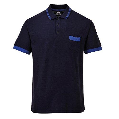Portwest Texo tx20grrl Kontrast-Poloshirt, Gr. L, TX20GRRXXL Black