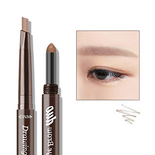 ARTIFUN Doppelkopf Augenbrauenstift + Augenbrauenpuder, 2 In 1 Brauenstift Wasserdichtes Naturaugen Kosmetik Makeup (Leichter Kaffee) - Kno-finish