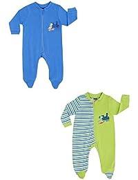 Jacky Boley Baby Jungen Schlafanzüge langarm 2er-Pack Dino blau/grün 6321782
