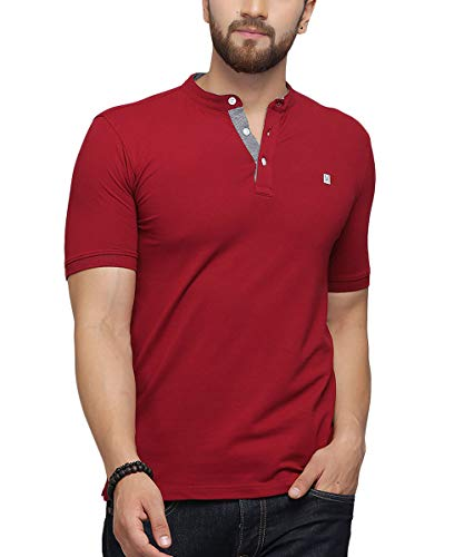 TURMS Stain Repellent & Anti Odour & Super Stretch The Kingsman 2.0 T- Shirt for Men Red