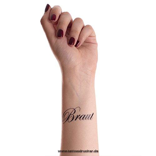 1 x Braut Tattoo - JGA - Junggesellinnenabschied - Hochzeit Braut Tattoo -