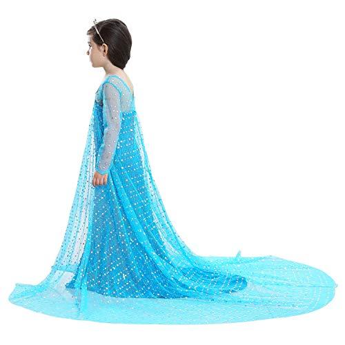 Fahrrad Kostüm Pferd - Bobopai Long Sleeve Girl Princess Cosplay Costumes Fancy Butterfly Dress (Blue-e08)