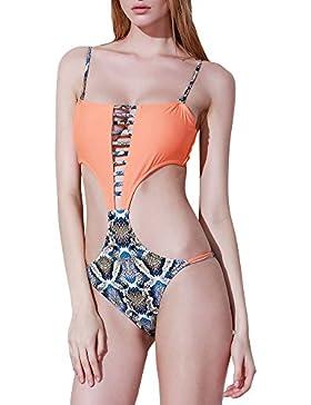 Costumi Da Bagno Un Pezzo Bikini Costumi Backless Halter Swimwear Tankini Swimsuit Beachwear Come Immagine M