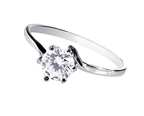 twist ring style silver 925 one and a half carat cz stunningly sparkling solitaire ideal proposal ring