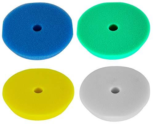 RUPES 4X Polierpad Polierschwamm Polierscheibe weich bis hart 150-180 mm