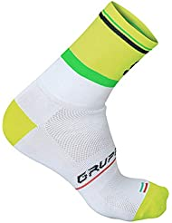 Calcetines Sportful Gruppetto Pro 12 Blanco-Amarillo 2017
