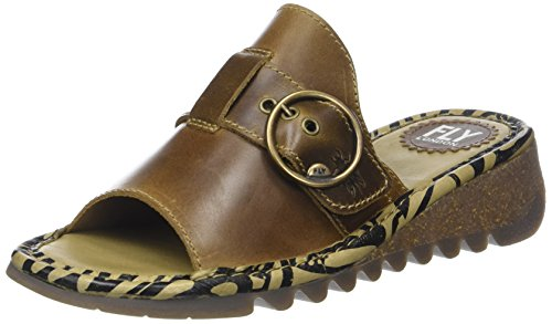 Fly London Damen Tani807fly Sandalen, Braun (Camel), 39 EU (Leder Bridle Tan)