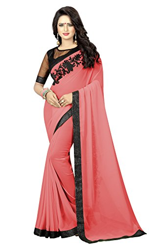 Nena Fashion Women's Georgette Saree With Blouse Piece