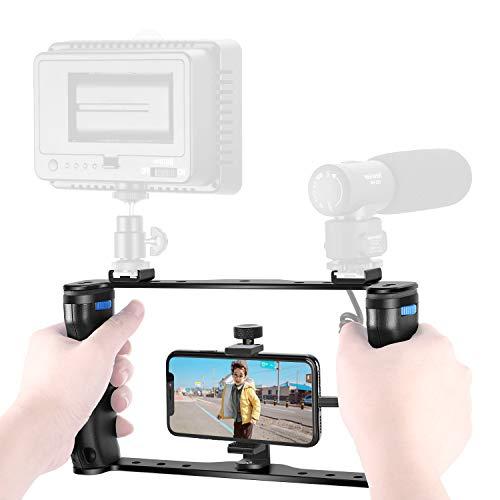 Neewer U Rig Smartphone-Videogerät,Video Gehäuse,Filmvideostabilisator-Griff Stativhalterung für Filmemacher Videoersteller für iPhone XS XU HUAWEI Samsung (U-griff)