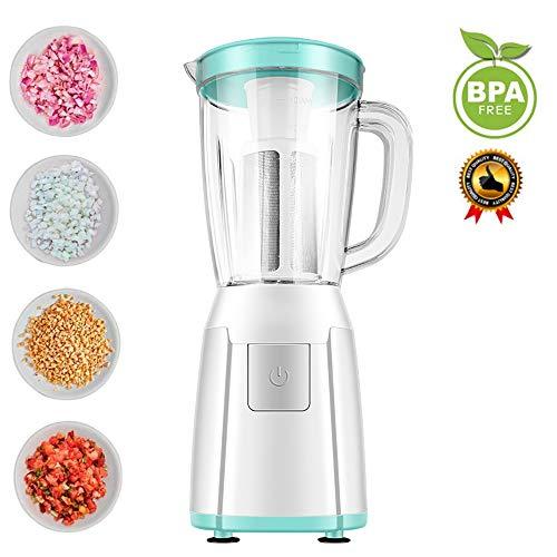 Küchenmaschine Multifunktional, Food Processor, Mixer für Babykostzubereitung mit 300W Reinkupfermotor, Drei Tassen, Zwei Messerköpfe, Ideal zum Entsaften, Mischen, Mahlen, 1200 ml, Kein BPA (Grün)