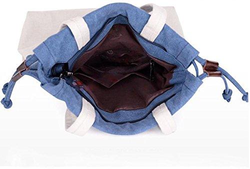 Segeltuchbeutel-Schulterbeutel Mit Einer Eimerbeutel Einfache Art Und Weise Schlagen Farbe Handtasche Purple