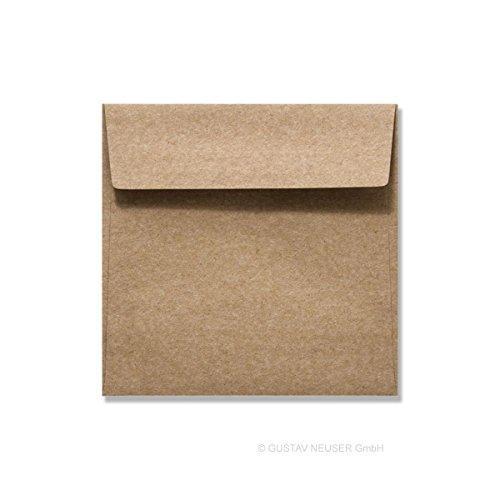 aus Recycling-Papier in Braun | 160x160 mm | 25 Stück | Blanko Brief-Umschläge zum Selbstgestalten & Basteln | bedruckbare Post-Umschläge ohne Fenster| ideal für Weihnachten (Halloween-brief Für Die Eltern)