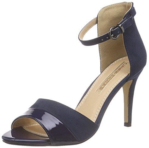 Buffalo Shoes 312339 Imi Suede Pat PU, Damen Knöchelriemchen Sandalen, Blau (Navy 10), 40 EU (Fashion-sandalen Pu Damen)