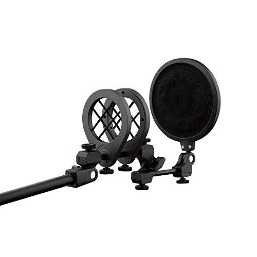 Sistema di sospensione universale per microfono con filtro antipop integrato