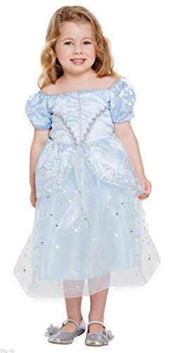 KIDS GIRLS DISNEY PRINCESS CINDERELLA TODDLER FANCY DRESS COSTUME FITS 2 - 4 YEARS