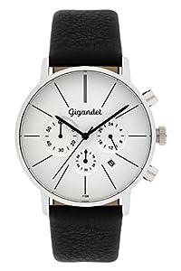 Gigandet G32-001 - Reloj para hombres, correa de cuero color negro de Gigandet