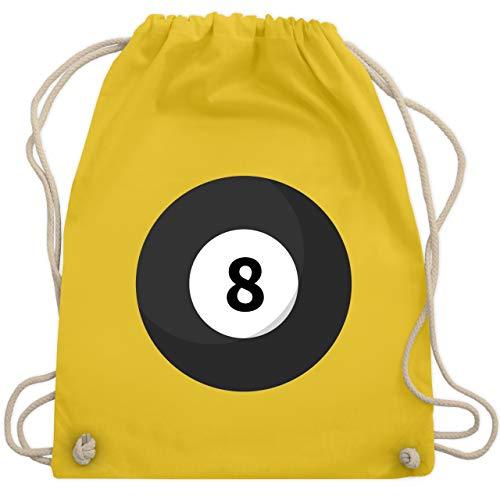 Karneval & Fasching - Billardkugel 8 Kostüm - Unisize - Gelb - WM110 - Turnbeutel & Gym Bag (Kostüme Gruppen 8 Von Für)