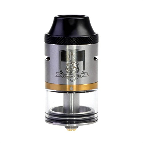 Riccardo Combo Clearomizer RDTA 6,5 ml, Durchmesser 25 mm, iJoy Verdampfer für e-Zigarette, silber, 1 Stück