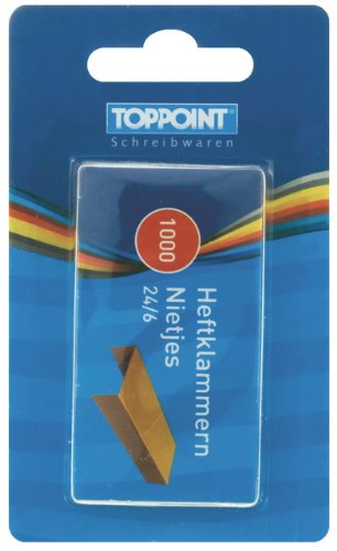 10000 (10x 1000) Stylex Heftklammern Gr. 24/6 verzinkt 24 6