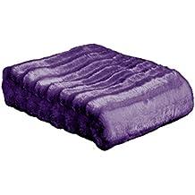 MANTAS PLAIDS BARCELO- Manta Plaid Vison Morado 130x160 cm para cama o sofá
