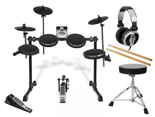 Alesis DM7X elektronisches Drumset Session Kit E-Drum Set mit Zubehör (Hocker, Kopfhörer, Sticks, Drum Rack, Drum Pads, 385 Sounds, 40 Kits, Sequencer, Metronom, Aufnahmefunktion, Kabel, Netzteil)