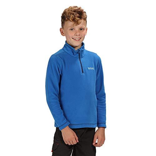 Regatta Hot Shot II Kinder Fleece-Jacke mit halbem Reißverschluss L Oxford Blue/Navy (Hot Fleece Shot)