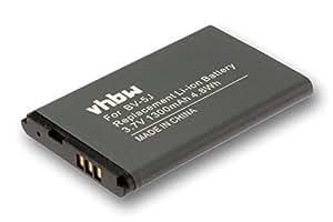 vhbw Li-Ion Batterie 1150mAh (3.8V) pour téléphone portable Smartphone Asus ZenFone 4 comme C11P1320.