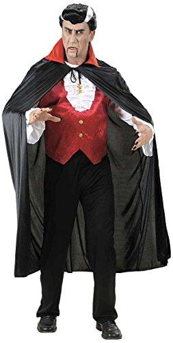 Vampir-Umhang Roter Kragen für Erwachsene Halloween (Stehkragen Terylene)
