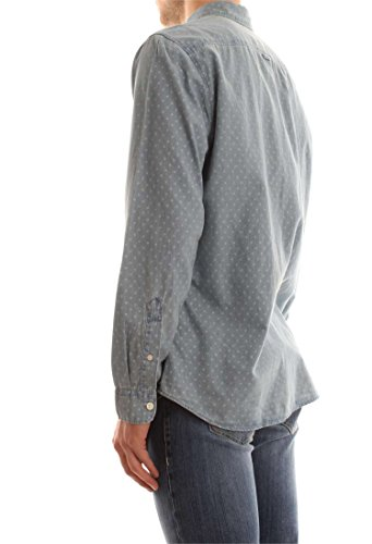 Selected Shhone-Nolanprint Shirt Ls, Chemise Casual Homme Bleu