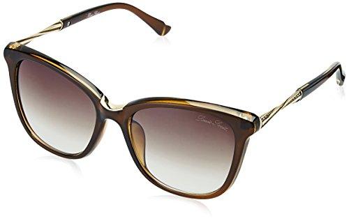 LOUIS SMIT UV Protected Cat Eye Women\'s Sunglasses - (LS107-C1|60|Brown Gradel Color)