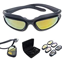 Polarizadas Lente Gafas Para El Sol de hípica con 4 lente de conducción para Motocicleta Bicicleta