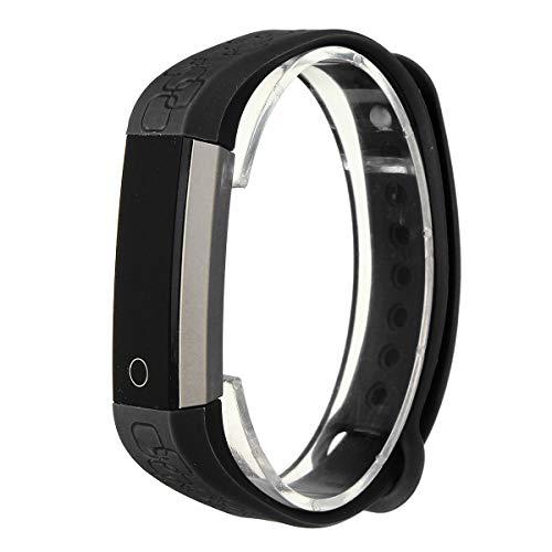 TENGGO K2 Waterproof 0.86 inch OLED Herzfrequenz Sport Smart Band Armband iPhone Android Ios-Schwarz
