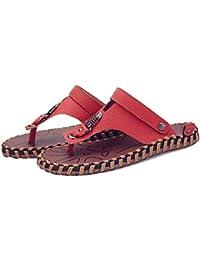 Sandals HUO Hommes Anti-dérapant Mode Extérieure Pantoufles Confortable Fond Souple Plage Chaussures Noir Brun Kaki Confortable absorber la sueur