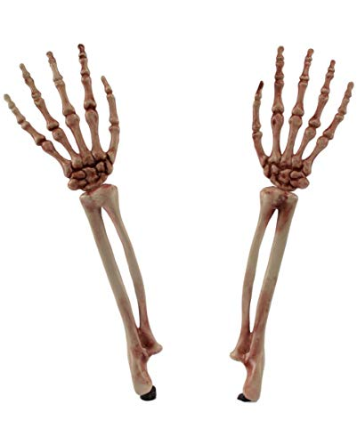 (Horror-Shop Halloween Gartendeko Skelett Arme)