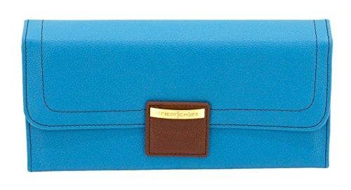 Friedrich|23, Schmuckrolle, 24 x 11 x 3 cm, Magnetverschluss, Ideal für Reisen, Feinsynthetik, Ascot, Blau/Azurblau, ()
