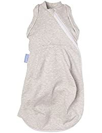 The Gro Company Grey Marl Grosnug 2-in-1 Swaddle and Newborn Grobag, 0-3 Months, Light