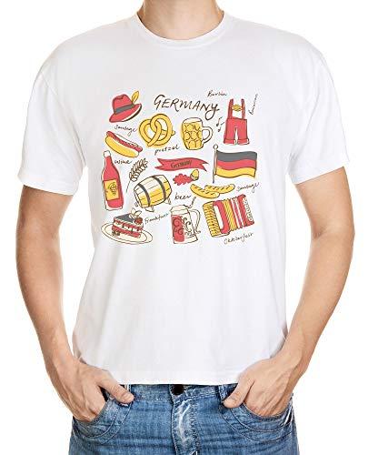 T-shirt I LOVE fan Flag Drapeau Allemagne GER Germany Allemagne D Football Berlin