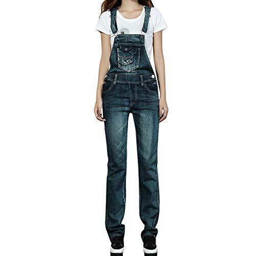 Jeans da donna,pantaloni slim da donna con cinturino alla caviglia jeans bib,jumpsuit tuta bavaglino