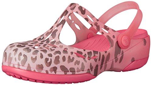 Crocs Carlie Leopard Fade Clog Mule Coral/Coral