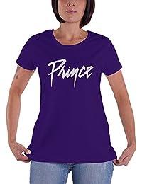 Prince T Shirt Logo Nue offiziell damen Skinny Fit Purple