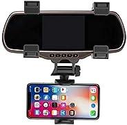 360 دوران قابل للتعديل مرآة الرؤية الخلفية للسيارة حامل الهاتف GPS حامل عالمي يدعم التنقل مسجل بيانات السيارة