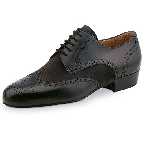 Zapatos De 28023 Núcleo De ancho Nubuck Negro Glattleder Werner Baile Hombre Cuero fR5nYqnp