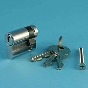 Eurolock Cylindre de serrure complet + 3 clés 40 mm