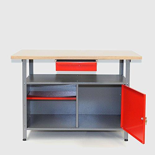 Große Werkstatteinrichtung bestehend aus 2 Werkbänken, 2 Metallschränken und 2 Euro-Lochwänden - individuell kombinierbar - 3