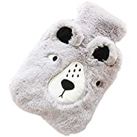Gray Bear Cute Wärmflasche mit weicher Flanellhülle tragbar, 20 * 14cm preisvergleich bei billige-tabletten.eu