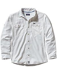 Patagonia M'S L/S Sol Patrol II Camisa, Hombre, Blanco,Plateado, L
