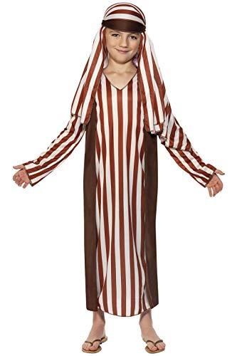 Kostüm Schäfer Kind - Smiffys, Kinder Jungen Schäfer Kostüm, Robe und Kopfbedeckung, Größe: L, 31285